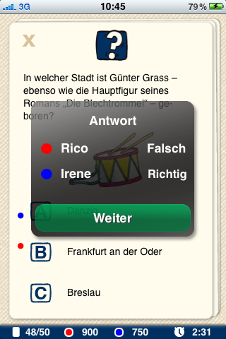 Screenshot Pocket Quiz: Politik & Geschichte